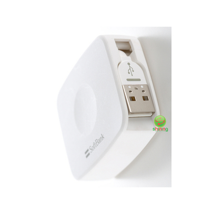 SoftBank Selection Retractable USB Cable with Lightning Connector White