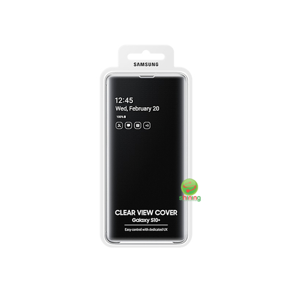 """SME (O) CLEAR VIEW COVER GALAXY S10+ 6.4"""" BLACK"""