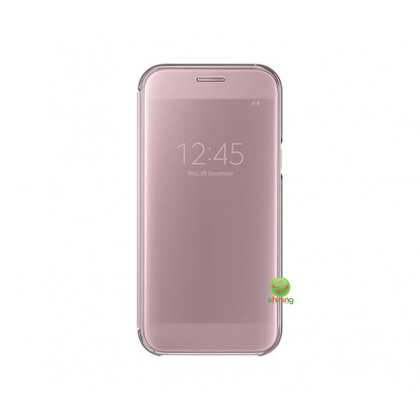 SME (O) CLEAR VIEW FLIP COVER GALAXY A5 2017 PINK