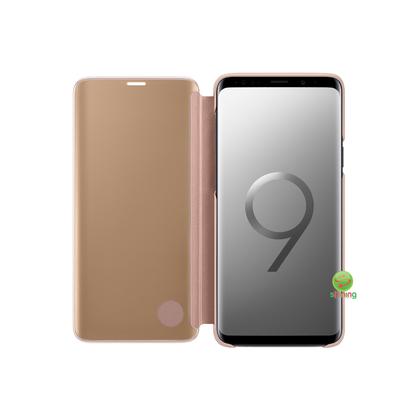 SME (O) CLEAR VIEW STANDING COVER GALAXY S9 PLUS GOLD
