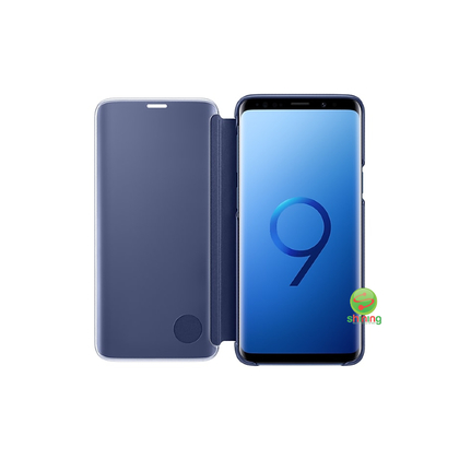 SME (O) CLEAR VIEW STANDING COVER GALAXY S9 BLUE