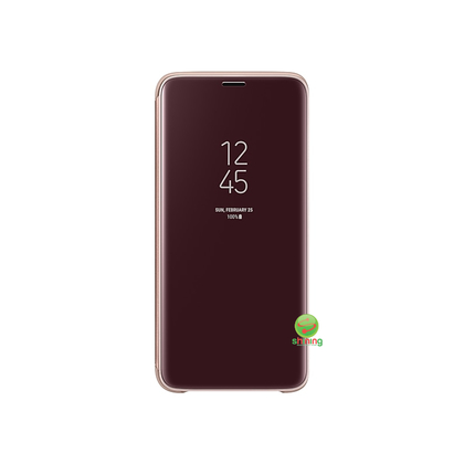 SME (O) CLEAR VIEW STANDING COVER GALAXY S9 GOLD