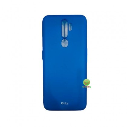 Olike A9 2020 Casing & Glass Screen Protector Set Blue