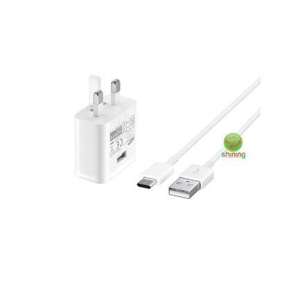 Samsung Fast Charge (15w) Travel Adapter USB Type C To A Cable White